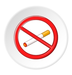 No smoking sign icon cartoon style vector image