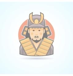 Samurai japanese warrior icon vector
