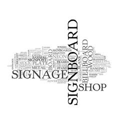 Signboard word cloud concept vector