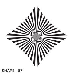 simple geometric shape vector image