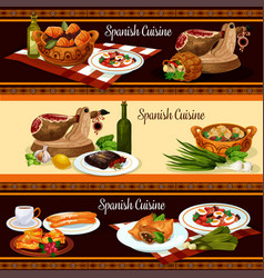 Spanish cuisine restaurant menu banner set design vector