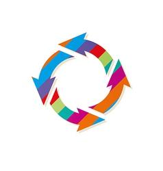 Striped circle arrows vector