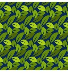 Stylized cartoon dense foliage seamless pattern vector image