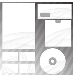 Swoosh wave stationery corporate set vector