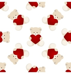 Teddy Bear Valentines Day Card vector image