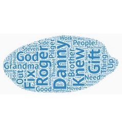 The Good Talker text background wordcloud concept vector image