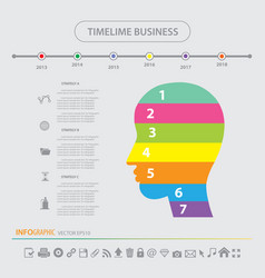 Time line infographics design template icons set vector