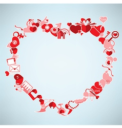 Valentines day background with heart the heart vector