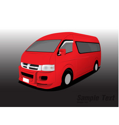van transport vector image