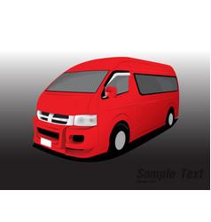 van transport vector image vector image