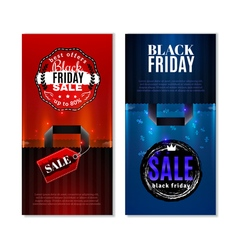 Black friday sale vertical banners vector