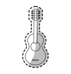 Isolated guitar instrument design vector