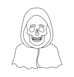 Death icon in outline style isolated on white vector