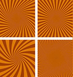 Brown spiral background set vector image