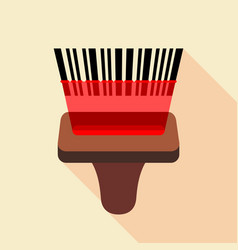 Barcode reader icon flat style vector