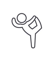 pilates gymnastics practice exercise flat line vector image
