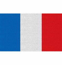 Knitted france flag vector