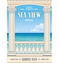 wonderful sea view vector image