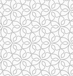 Gray dotted six pedal flowers vector