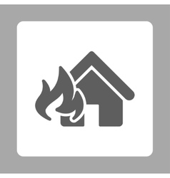 Fire damage icon vector