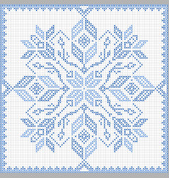 Scandinavian style cross stitch pattern vector