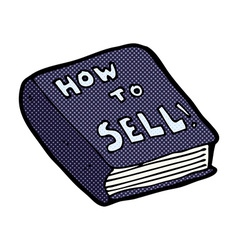 Comic cartoon how to sell book vector
