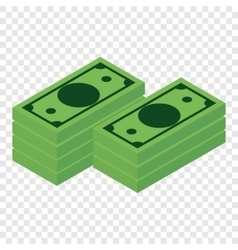 Money isometric 3d icon vector