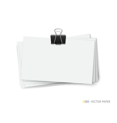 Stack of blank white business cards vector