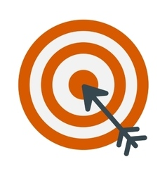 Successful shoot goal icon darts target aim on vector