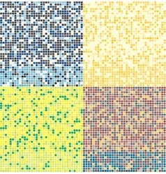 Abstract square pixel mosaic background seamless vector