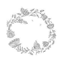 Floral wreath for your text vector