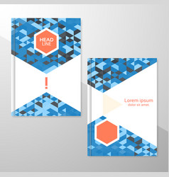 Abstract brochure or flyer design template vector