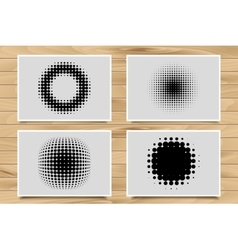 Abstract Halftone Backgrounds vector image