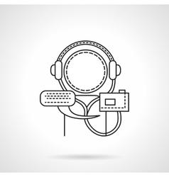 Audio tutorial flat line icon vector image