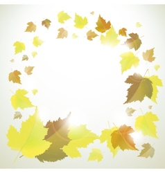 Autumn frame or background with leaves vector