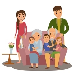 Big family set vector