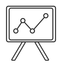 Black and white office board graphic vector