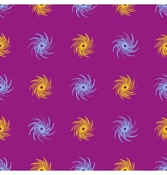 Blue and yellow flower abstract seamless pattern vector