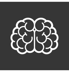 Brain logo icon on black background vector