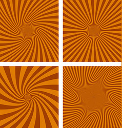 Brown spiral background set vector