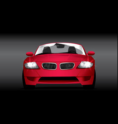 car red vector image vector image