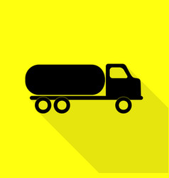 Car transports sign black icon with flat style vector