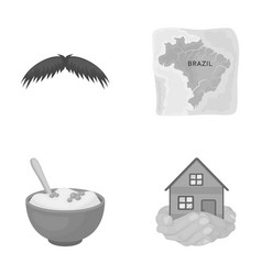 Catering travel business and other monochrome vector