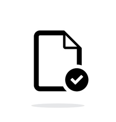 Check files icon on white background vector