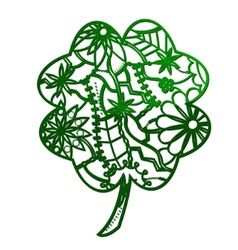 Clover green outline vector image vector image