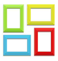 colour classis frame set on the wall vector image vector image