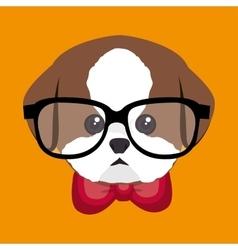 Cute portrait doggy icon design vector
