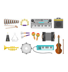 Different music instruments musical guitar vector