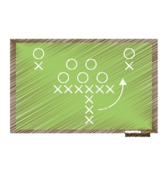 Drawing sport tactics chalkboard american football vector