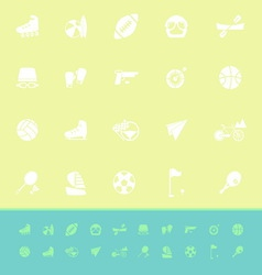 Extreme sport color icons on green background vector